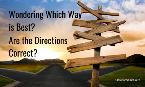 Directions for Living-Wondering which way is best